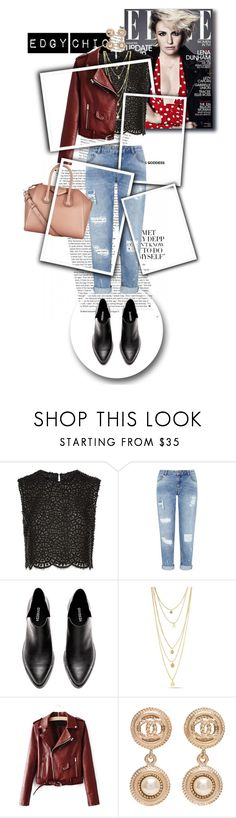 """""""Edgy Chic"""" by downloads101 ❤ liked on Polyvore featuring Costarellos, Miss Selfridge, Chanel, Givenchy and edgychic"""