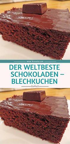 The world& best chocolate - sheet cake 😍 😍 Der weltbeste Schokoladen – Blechkuchen 😍 😍 😍 The world& best chocolate – sheet cake 😍 😍 😍 - Coconut Recipes, Sweets Recipes, Snack Recipes, Fall Desserts, No Bake Desserts, Sheet Cake Recipes, Un Cake, Easy Smoothie Recipes, Best Chocolate Cake