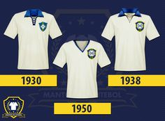 Primeiras camisas da seleção.
