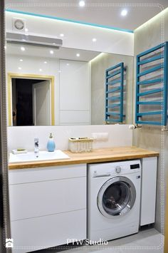 Bathroom Design Small, Bathroom Interior Design, Small Washing Machine, Clothes Storage Boxes, Pinterest Room Decor, Relaxing Bathroom, Granny Flat, Home Room Design, Laundry In Bathroom