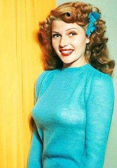 Rita Hayworth, ca. 1945 in Technicolor!