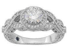 Vanna K (Tm) For Bella Luce (R) 2.14ctw Vanna K Cut Platineve (Tm) Ring (1.43ctw Dew)