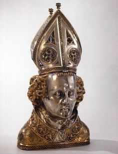 SCERPSWERT, Elyas Reliquary Bust of St Frederick 1362 Parcel-gilt silver, height 45 cm Rijksmuseum, Amsterdam