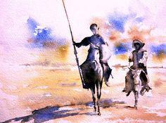 don quijote | Kunstnet / Werke / Aquarell / Menschen / Don Quijote