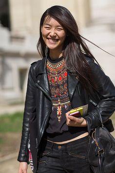 Street Style: Paris Fashion Week Spring 2014 - Liu Wen