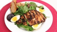Grilled Chicken Cesar Salad Recipe - Laura in the Kitchen - Internet Cooking Show Starring Laura Vitale