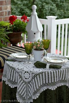 Back Porch Musings......love this t-cloth