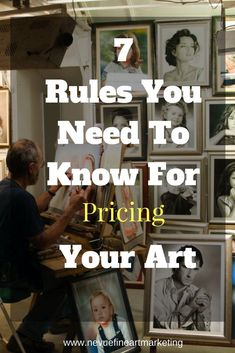 7 art pricing rules to stick with so you can make better decisions and eventually increase your profit margin. Start selling more. Sell My Art, Make Art, Selling Art Online, Online Art, Art Careers, Artist Life, Creative Business, Craft Business, Business Ideas