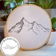 Minimalist Mountain Embroidery - Handcrafted House Decoration – Handmade UK  | eBay
