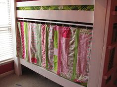 Like This Curtain Hanging Idea For Bottom Of Loft Bed
