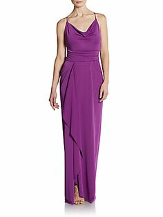 Strap-Back Jersey Gown