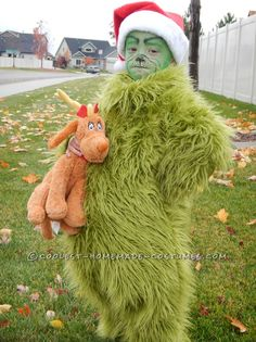 Cool grinch costumes and masks pinterest grinch costumes grinch cool homemade halloween costume the grinch who stole christmas and the show diy solutioingenieria Image collections