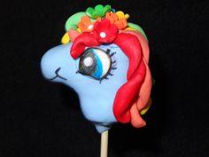 Rainbow Dash Cake Pop