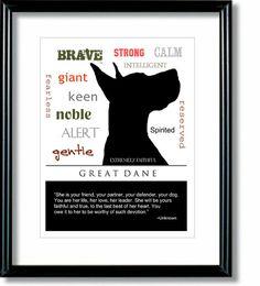 Great Dane Art Great Dane Print Subway Art Quote by DIGIArtPrints
