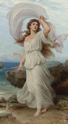 thomas francis dicksee artist   Gallery » Paintings » Thomas Francis Dicksee - Miranda                                                                                                                                                                                 Mais