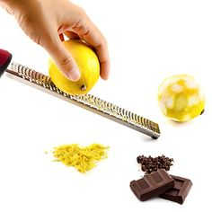 iCreato Citrus Lemon Zester  Cheese Grater  Chocolate Grater with Razorsharp Stainless Steel Blade  Protective Cover Dishwasher Safe -- Check out this great product.
