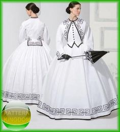 Simplicity 3791 Stunning Civil War Victorian Dress GWTW Pattern