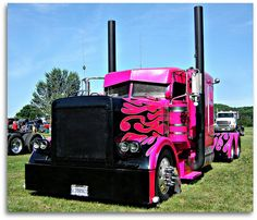 pink, black, flames, ginormous stacks. love it.