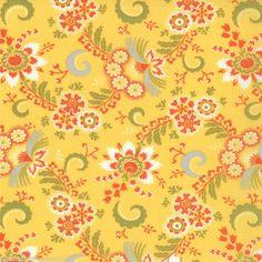 MODA Fabric ~ HIGH STREET ~ by Lily Ashbury (11475 13) Lemonade - by 1/2 yard