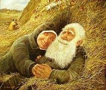 Леонид Баранов картины, картины красивой старости, любви все возрасты покорны, старики в живописи, старость в живописи, любовь в старости