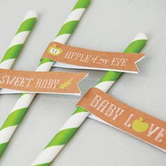 INSTANT DOWNLOAD printable party kit Apple of My by WiseOwlPrints, $15.00
