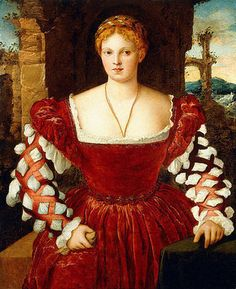 16th c Francesco Beccaruzzi - Portrait of a noblewoman from History of fashion in art & photo