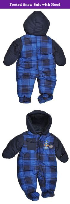 d6c8c395b Footed Snow Suit with Hood. London Fog baby boys snow suit/pram with hide- away mittens, zipper closure and sherpa hood lining.