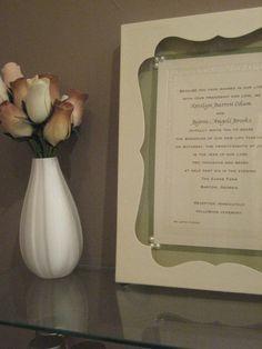 Wedding invitation keepsake tileturn your wedding invitation into a framed wedding invitation keepsake wedding invitation keepsakes stopboris Image collections