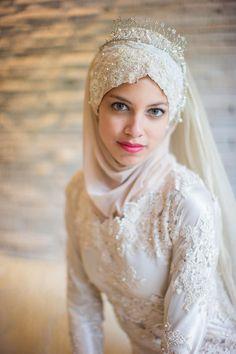Breathtaking Garden Bridal Portraits and completely handmade, DIY gown! Bridal Hijab, Muslim Wedding Dresses, Muslim Brides, Wedding Hijab, Bridal Hair, Diy Gown, Moslem, Muslimah Wedding, Bridal Looks