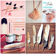 Feather painting, arrow and necklace tutorials