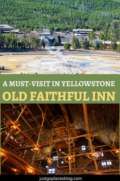Why visit Old Faithul Inn in Yellowstone NP, the first National Park Lodge Wyoming Animals   Wildlife   National Parks   Family Travel   Travel with Kids   Educational Travel   Wyoming Travel Destinations   Honeymoon   Backpack   Backpacking   Vacation   Budget   Off the Beaten Path   Wanderlust #travel #honeymoon #vacation #backpacking #budgettravel #offthebeatenpath #bucketlist #wanderlust #Wyoming #USA #UnitedStates #America #exploreWyoming #visitWyoming #seeWyoming #discoverWyoming… National Park Lodges, National Park Tours, Us National Parks, Grand Teton National Park, Yellowstone Lodging, Yellowstone National Park Hotels, Wyoming Vacation, Family Glamping, Hotels For Kids