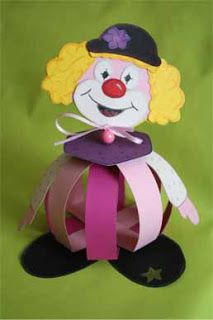 Clown Purim centerpiece