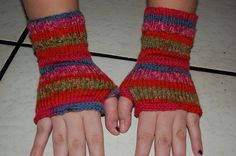 Finger less hand knitted multicolored soft by IvithjasCreations, $16.00
