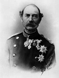 King Christian IX of Denmark. The Grandfather of European monarchy. He & Queen Victoria - 3rd cousins through George II. Christian's children all married into powerful Kingdoms in Europe. He married Princess Louise of Hesse-Cassel & had 6 children. His eldest daughter Alexandra married Edward, Prince of Wales (Edward VII). His second daughter, Dagmar married Emperor Alexander III of Russia & became Empress Maria Feodorovna.  Her eldest son became Emperor Nicholas II, last Emperor of Russia
