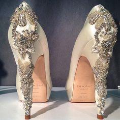 Increíbles zapatos de novia   Zapatos Brillantes