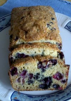 Carol's Blueberry White Chocolate Cheesecake Zucchini Bread*