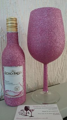 Glitter Wine Gles Gifts Pink Mini Bottles Gift Sets Bling Alcohol Vases Champagne