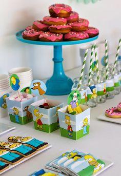 Postreadicción galletas decoradas, cupcakes y pops: Fiesta de los Simpson. Imprimible