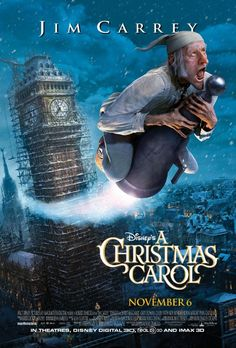 A Christmas Carol with Jim Carrey - great campfire backyard family movie night idea. www.funflicks.com Christmas in July!