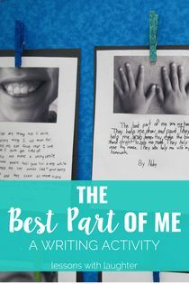 Best Part of Me Writing Activity. Perfect for a beginning of the year writing or opinion writing!The Best Part of Me Writing Activity. Perfect for a beginning of the year writing or opinion writing! Writing Lessons, Teaching Writing, Descriptive Writing Activities, Writing Tips, Kindergarten Writing, Writing Skills, Teaching Resources, Narrative Writing Prompts, Poetry Lessons