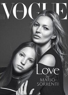 Kate Moss and Lily Grace Moss for Vogue Italia June 2016 Cover