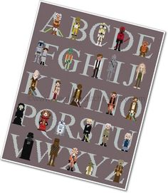 Pixel People  Star Wars Alphabet Sampler by weelittlestitches