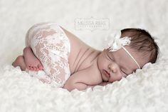 Cream White Lace Pants and Lace Bow Mohair Headband