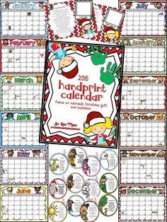 2015 Handprint Calendar-Adorable Christmas gift for parents!! This is a gift that will be treasured forever.
