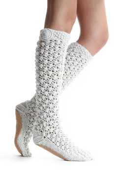 Lemon Popcorn Slipper Booties | South Moon Under