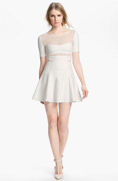 Elizabeth and James 'Selena' Sheer Inset Dress available at #Nordstrom