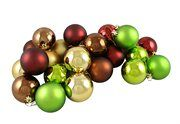 "$12.99  VICKERMAN N590640: 24ct Matte/Shiny Earth Tone Shatterproof Christmas Ball Ornaments 2.5"" (60mm)"
