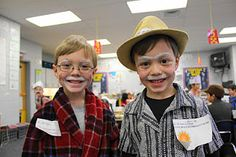 have kids dress like they are 100 years old for 100th day of school.