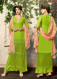 http://www.sareesaga.in/index.php?route=product/product&product_id=18806 Work:Embroidered Style:Salwar suit Shipping Time:10 to 12 Days Occasion:Party Festival Fabric:Lazer Georgette Colour:Green For Inquiry Or Any Query Related To Product,  Contact :- +91 9825192886