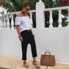 """1,489 Me gusta, 67 comentarios - Asun Pérez (@asunbaute) en Instagram: """"Look de hoy... #outfitoftheday #guccibelt #gucci #pradabag #prada #h&m #outfit #outfits…"""""""